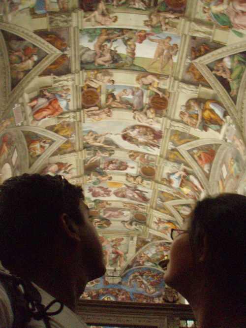 Wen and Amir at the Sistine Chapel